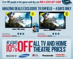 """Best Buy Enfield's grand opening deals. Get a Samsung 32"""" LCD TV for £224.99"""