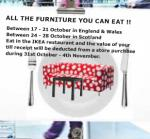 Free meal in Ikea restaurant up to the total amount spent at a later point in-store