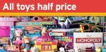 Sainsbury's 1/2 price toy sale - Starts Thursday 27th October