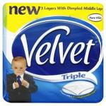 Velvet 3-Ply toilet tissue 24 rolls (12rolls+12 free) £3.48 using code @ staples
