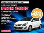 Nearly New Corsa for £7997 from Peter Vardy