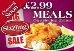 £2.99 meals at Sizzling Pubs