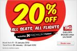 20% off ALL international and regional S.E. Asia flights with AirAsia!!
