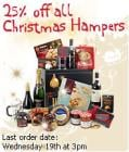 25% off all Christmas hampers at Sainsburys (xmas delivery included)