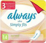 Always Ultra Simply Fits Normal (14) & Always Ultra Simply Fits Normal with Wings (12) £1.20 BOGOF @ Tesco / £1.19 BOGOF @ Waitrose