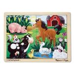 Melissa & Doug On the Farm Wooden 12 Piece Jigsaw Puzzle in Wood Tray was £4.99 now £3.11 del @ Amazon