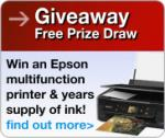 Win Epson multifunction printer and a years supply of ink! @ Choice Stationary