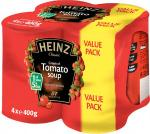 Heinz Soups (4x400g) £2.86 OR 2 FOR £3 @Asda