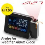 Projection Alarm Clock With Weather Station for £11.99 @ Dealtastic