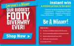 Everyone is a winner - Purchase any football product for £5+ @ JJB and win a instant prize
