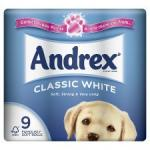 2 for £6.00 Andrex Toilet Tissue Classic White 9 Roll @ Tesco