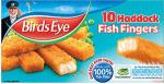 Birds Eye Cod or Haddock (58% fish) Fillet Fish Fingers (10 per pack - 280g) was £2.09 now 2 for £3.00 @ Asda