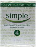 Simple Pure Soap 4 x 125g Half Price was £2.48 now £1.24 @ Tesco