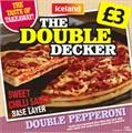 The Double Decker Double Pepperoni Pizza Half Price £1.50 @ Iceland