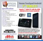 """Versus Touchpad 7"""" Android 4.0 £96.94 @ IJT Direct"""