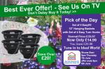 "ideal world tv  pick of the day , garden bargains ,4 x easyfill 12"" hanging baskets £14.99"