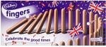 Cadbury Milk Chocolate Fingers 125g was £1.89 now  £1.00 @ Tesco