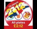 all dishes at selected yo sushi £2.12