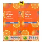 £2.50 for 4x1l cartons of pure orange or apple juice @ tesco