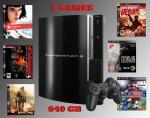FS - Refurbished 640GB Playstation 3 Console + 9 PS3 Games Bundle