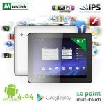 Mustek 9.7 inch tablet with Android 4.0 and Super Slim Aluminium Housing - £167.90+4%Quidco @ ibood
