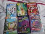 Kids DVDs, Disney, Barney, Spongebob
