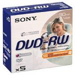 Sony DVD-RW Jewel Case Pack of 5 - £2.97 @ Tesco Direct