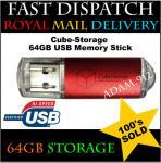 64GB Cube-Storage USB Flash Memory Stick Pen Drive, £14.99 delivered @ eBay / adam.912