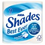 Asda shades toilet roll (9 pack) £1.50 @ Asda instore