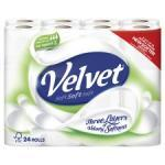 24 Rolls Of Triple Velvet Toilet Roll -  Now £7 @ Tesco (£6.50 With Coupon) From 29/08/2012