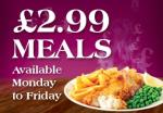 Sizzling Pubs £2.99 meals