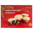 Sainsbury's Deep Filled Mince Pies x6 82p