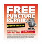 free puncture repair kit worth £8 @ national tyres