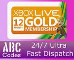 12 Months Xbox LIVE GOLD Membership £23.90 @ Ebay / ABC Codes