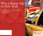 A luxury trip to New York for two people @ Financial Time