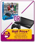 Get the Super Slim 500GB PS3 Fifa 13 Console Pack for only £124.99 when trading in selected consoles at GAME