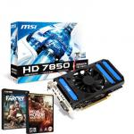 MSI Overclocked Radeon HD 7850 AMD Graphics Card - 1GB - with FREE Far Cry 3 and 20% off Medal Of Honor Warfighter £119.82 at Scan