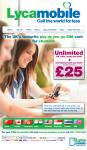 Lycamobile - Unlimited Calls, Texts, Data + Unlimited International Calls & Text @ £25 p/m
