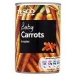 Tesco Baby Carrots In Water 300G £0.18 @ TESCO Online and Instore