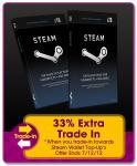 33% extra trade in price towards Steam Wallet (+ competetive trade-in) @ GAME