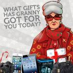 Just-Eat Granny's Gifts iPhones, iPads, Cameras, £250 and more to be won everyday @ Facebook