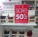 Selected Yankee candles half price @ John Lewis