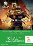 3+1 month Xbox live gold (Gears of War Branded) £13.49 via The Hut