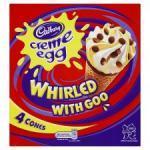 Cadbury Creme Egg Ice Cream Cones whirled with goo £1 @ ASDA