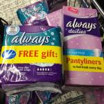 Always ultra 12 pack sanitary towels with free dailies 14 pack 50p in Asda