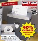 Cross Cut Shredder - £14.99 @ Lidl