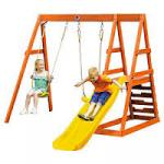 Plum tamarin wooden slide/swing set £150 at Tesco Direct