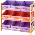 3-Tier Wooden Toy Basket Storage Unit - Pastel £14.99 @ Argos