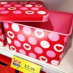 Hearts 22ltr Plastic Storage Box with Lid,  £2.99 at Home Bargains