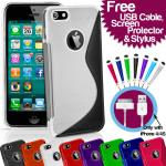 Various Coloured iPhone 4/4S/5 S-Line Series Silicone/Gel Case - £0.99p delivered - Free USB Cable, Screen Protector and Mini-Stylus @slavedriver0_0/eBay